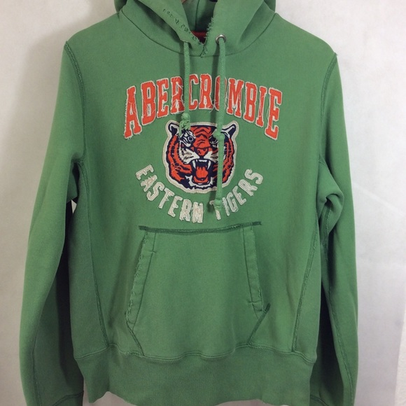 Abercrombie & Fitch Other - A&F Eastern Tigers Green Distressed Hoodie Unisex